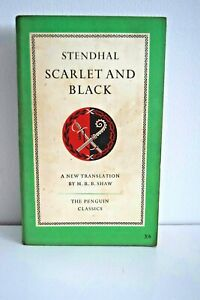 PENGUIN CLASSICS Scarlet and Black by Stendhal Penguin 1st Ed 1953