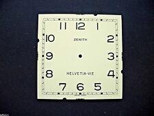 Cadran peint pendule Zenith horloge Uhr Clock Zifferblatt HELVETIA - VIE dial C1