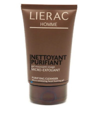 Lot of 3 LIERAC Homme Purifying Cleanser Micro-Exfoliant Gel Men, 3.6 oz Sealed