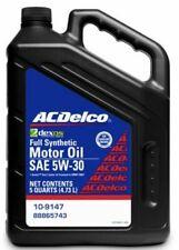 5 Quarts ACDelco Full Synthetic SAE 5W-30 GEN 2 Dexos1 Motor Oil
