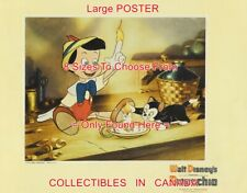 """Pinocchio 1940 Cartoon Finger On Fire Candle Cat = Poster 8 Sizes 18"""" - 4.5 Ft"""