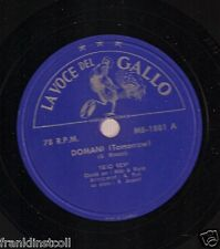 Trio Revi on 78 rpm Voce del Gallo MB-1881: Domani/Comme facette mammette