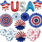4th of July Patriotic Decorations Red White and Blue Party Hanging Decor Set ...