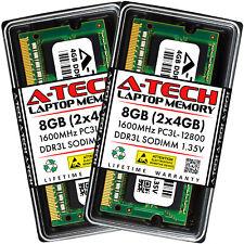 A-Tech 8GB 2x 4GB PC3-12800 Laptop SODIMM DDR3 1600 MHz Memory RAM PC3L 8G DDR3L