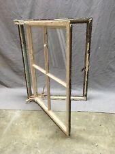 Antique Small 4 Lite Casement Steel Industrial Window 25x20 Vtg Tudor 353-20E