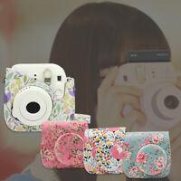 1x Camera Leather Bag Shoulder Cover Case For Fujifilm Fuji Instax Mini 8 9 Film