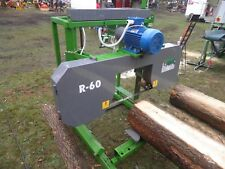 R-60 mit 10 Sägebändern Blockbandsäge Mobilsägewerk Bandsägewerk
