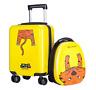 "18"" Carry On Spinner Luggage Backpack Set Kids Suitcase School Bag Wheel Trolley"