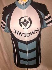 XIN TOWN Cycling Biking Jersey 3-Pocket Full Zipper Short Sleeve Men's Small NWT