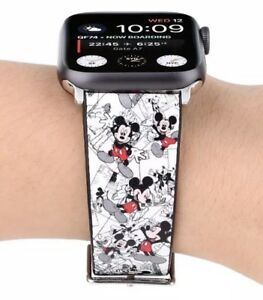 38mm Minnie Mouse Disney apple watch Leather Band-)