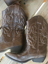 MOSSIMO WOMENS COWBOY BOOTS COUNTRY WESTERN BROWN SIZE 9