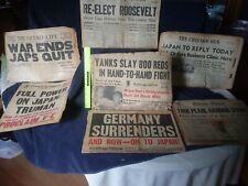 Vintage Newspapers 1941 To 1966