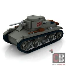 CUSTOM PDF Bauanleitung WW2 WWII Polish 7TP light tank Panzer für LEGO® Steine