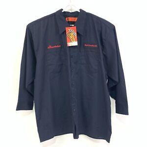 DALE EARNHARDT Winners Circle Mens Blue Work Shirt Long Sleeve Button  2XL 6201