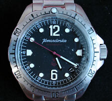 Wrist Amphibian Automatic Watch VOSTOK KOMANDIRSKIE Commander Military 480614
