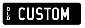 CUSTOM NOVELTY NUMBER PLATES WHITE BLACK DRIFT TRACK GIFT FUN SHOW