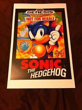Sonic the Hedgehog 11x17 Box Art Poster - Sega Genesis -No Game -