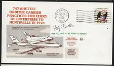 11/15/77 747 Shuttle Carrier Practices Ferrying, Autographed by Fitz Fulton