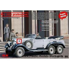 PLASTIC MODEL G4 (1939 PRODUCTION), GERMAN CAR WITH PASSENGERS 1/35 ICM 35531