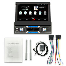 "7"" Single DIN Retractable Car SUV Stereo Radio MP5 Player GPS FM Wifi USB 1G+16G"