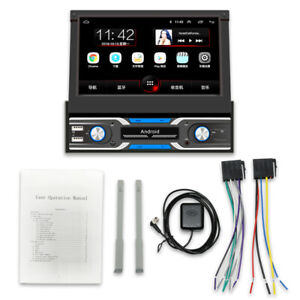 """7"""" 1DIN 1080P Flip Up GPS WIFI Mirror Link 1G+16G Car Video Stereo MP5 Player"""