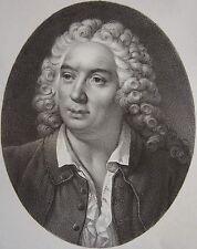 J.B.  ROUSSEAU (1670-1741) . Portrait, lithographie de 1821,