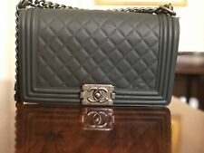 56f7499d8644 CHANEL MEDIUM Le Boy Bag | Dark Gray Quilted Lambskin w/ Ruthenium Hardware