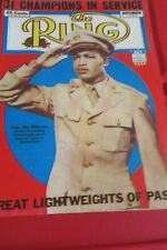 The Ring September 1943 Sugar Ray Robinson Cover, Sugar  Ray In Army Uniform WW2