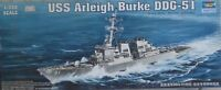 NEW-USS ARLEIGH BURKE DDG-51 MODEL KIT-TRUMPETER NO:04523-SCALE:1/350-439.5MM(L)