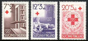 Finland B104-B106, MNH.Red Cross.Hospital,Giving Blood,blood Donor's Medal,1951