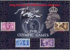 GB KGVI NICE DISPLAY OF 1948 LONDON OLYMPICS MINTSTAMPS