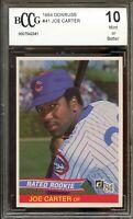 1984 Donruss #41 Joe Carter Rookie Card BGS BCCG 10 Mint+