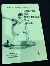 Official souvenir programme, Australian Tour, South African Team 1963-64 cricket