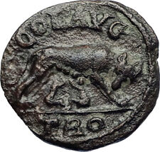 GALLIENUS Authentic Ancient 253AD Alexandria Troas Roman Coin SHE WOLF i71773
