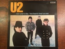 "U2 ‎NEW YEARS DAY + 2 Hearts 12"" Single -'83 Kevorkian Remix-Rare French Import"