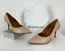Givenchy Paris New 7 US 37 EU Nude Leather Pump Heels Shoes Dust Bag Runway Auth