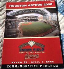 HOUSTON ASTROS 2000 ENRON FIELD COMMEMORATIVE PROGRAM 3/30 - 4/1 2000 NOS - Nice