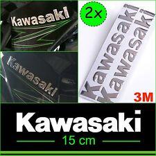 KAWASAKI Chrome Silver Sticker KX ZX10R ZX6R Z800 Z1000 Ninja Decal 3D Tank Moto