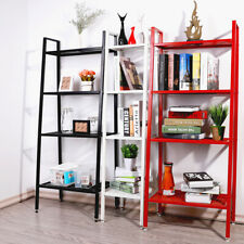 Industrial Retro Ladder Home Display Unit 4 Tier Display Bookcase Shelf Storage