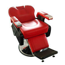 Red Heavy Duty Fashion Hydraulic Barber Chair Recline Salon Beauty Spa Shampoo