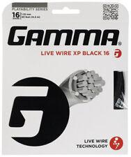 Gamma Live Wire Xp Black 16 Gauge Black Tennis String 1.32mm 40 ft