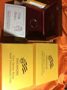 2007-W Unc $10 Gold Dolly Madison First Spouse BOX OGP & COA (X-08) - NO Coins