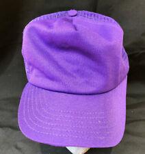 Vintage New Era Purple Mesh Snapback Trucker Hat Cap USA OSFA