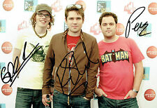 Scouting For GIRLS Group Pop Rock Band SIGNED 12x8 Autograph Photo AFTAL COA