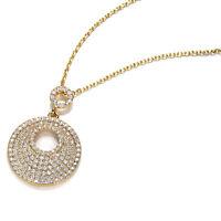 Venus 18ct Yellow Gold Cubic Zirconia Necklace/Pendant Wedding-Gift-Jewellery