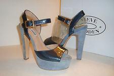 Steve Madden Womens Dynemite Blue Multi Ankle Sandals Shoes 9 MED DISPLAY