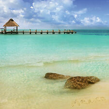 Paper House CANCUN BEACH 12x12 Scrapbooking (2) PCS Papers WATER PIER VACATION
