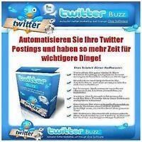 WEBSITE Webprojekt Twitter Scheduller Buzz Tool E-LIZENZ MiniSite VERKAUFSSEITE