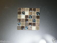 Confections hot chocolate taupe, black, and brown Backsplash glass tile