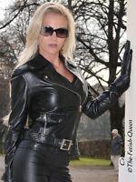 Lederjacke Leder Jacke Schwarz Biker-Style Ziertaschen Maßanfertigung